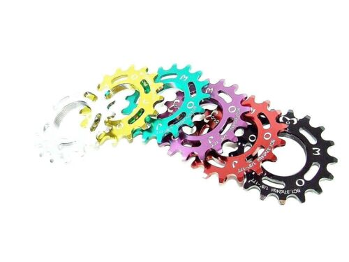 RED ANODIZED Cro-Mo TRACK 18 TOOTH 1//8 INCH CNC MOJO 18T FIXED GEAR COG