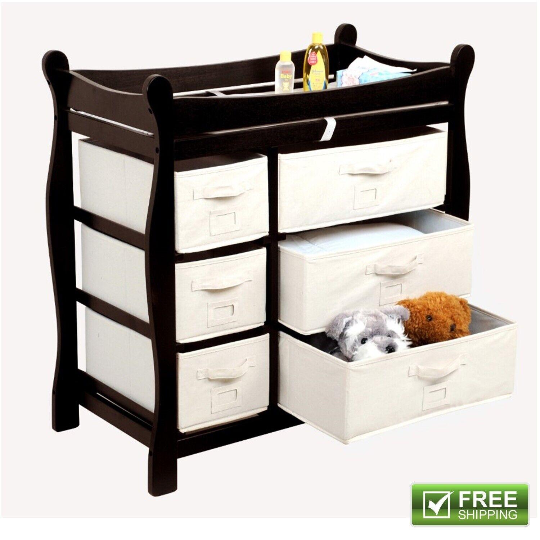 Dresser Wood Diaper Nursery Furniture