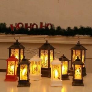 Castello-di-Natale-Babbo-Natale-Pupazzo-di-neve-Lampada-Luce-Fata-da-Appendere-Lanterna-ornamentuk