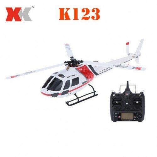XK K123 sin escobillas RC helicóptero escala de actualización del sistema 3D6G RTF con REMOTECONTROL