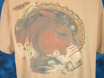 vintage 80s SKIN WALKER NATIVE AMERICAN SUNSET T-Shirt L//XL cowboy indian thin