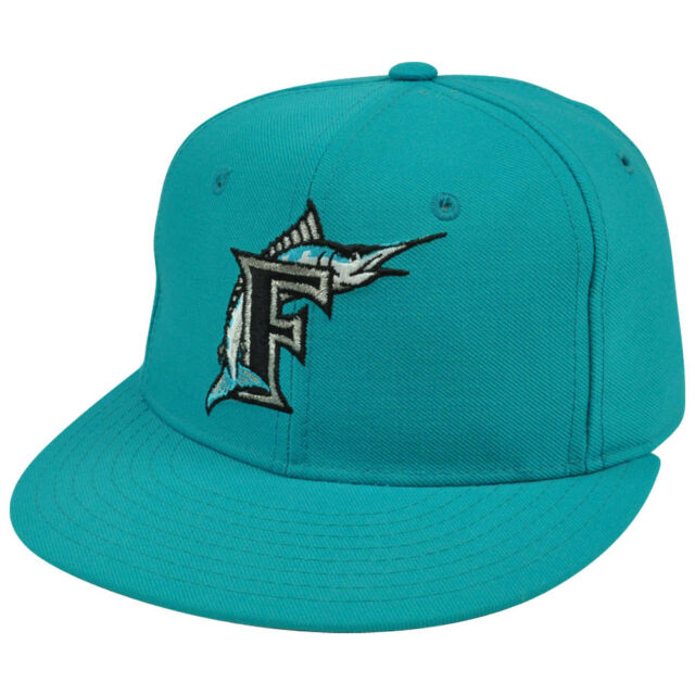 968ae81b2f89a New Era 59Fifty MLB Florida Miami Marlins Vintage Fitted Hat Cap Youth 6 7/8
