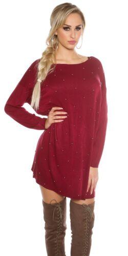Trendy Koucla Pullover Oversize Pulli Strickpullover Sweater mit Perlen