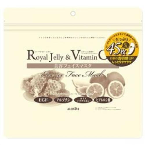 ALOVIVI Beauty Face Mask Royal Jelly & Vitamin C 45 Sheets Made in Japan