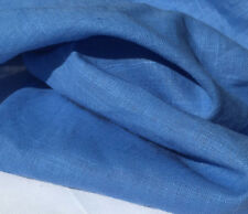 "54"" Baby Blue Linen Flax and Rayon Blend Light Weight Woven Fabric By the Yard"