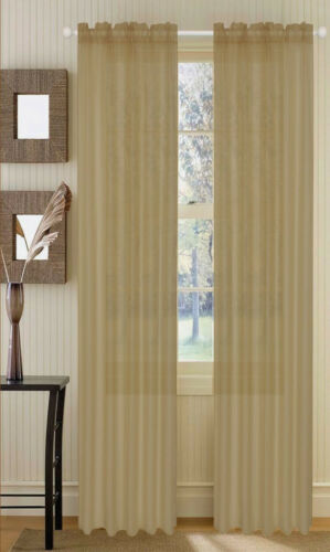"""Panels Set of 4 Sheer Voile Curtains Window Drapes 55/"""" X 84/"""" polyester sheers"""