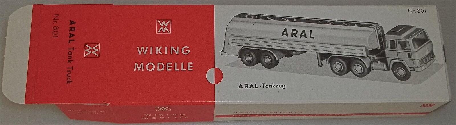 801 Aral Tanker Car Wiking Box Empty Å