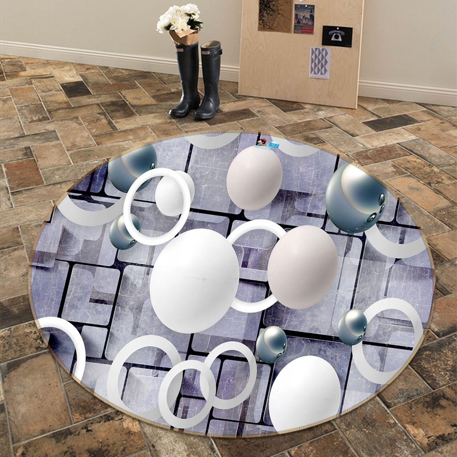 3D Cubo Bolas Anillo 9 Alfombra Antideslizante Alfombra de Sala rojoondo Calidad Elegante Foto Alfombra