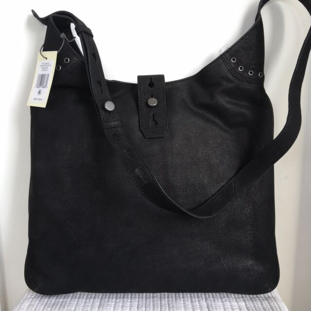 3a8556772256 Lucky Brand Rose Shoulder Bag Purse Black Leather Women s NEW NWT  198