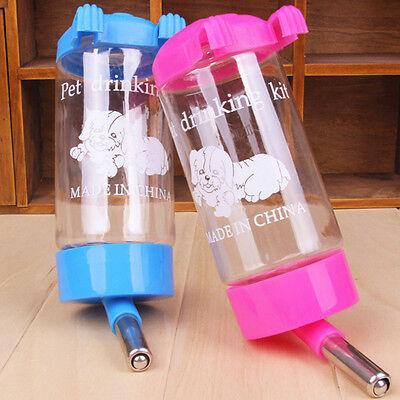 Pet Dog Cat Water Drinker Hanging Bottle Dispenser Bird Rabbit Auto Feeder 500ml