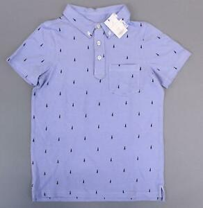 Rockets-Of-Awesome-Boy-039-s-Short-Sleeve-Rocket-Oxford-Polo-KB8-Blue-Size-10-12-NWT