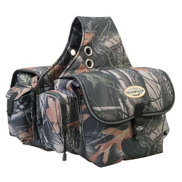 Weaver Trail Gear Saddle Bag 600 Denier Polyester Trail Supplies, Camo