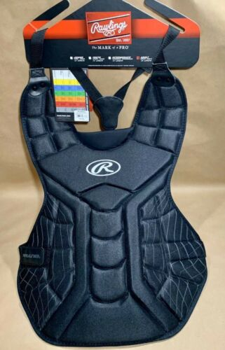 """Rawlings Black Players Series Adult 16/"""" Chest Protector New With Tags"""