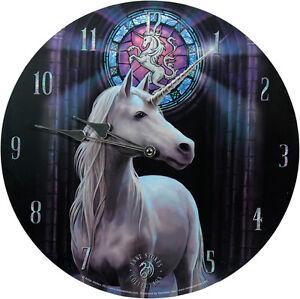 Wanduhr-Enlightenment-Anne-Stokes-34cm-Bilderuhr-UHR-Fantasy-Clock-Mystik-Gothic