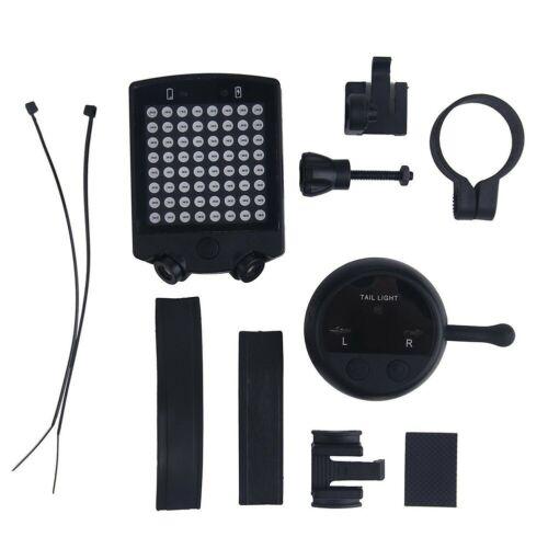 LED Vélo Bicyclette Indicateur Arrière Laser Clignotant Léger Lampe USB sans Fil