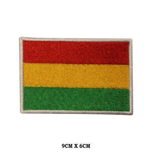 BOLIVIA National Flag Embroidered Patch Iron on Sew On Badge For Clothes etc
