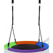 "Hazli Heavy-Duty Multicolor 40"" Round Indoor/Outdoor Kids Tree Disk Swing Set"