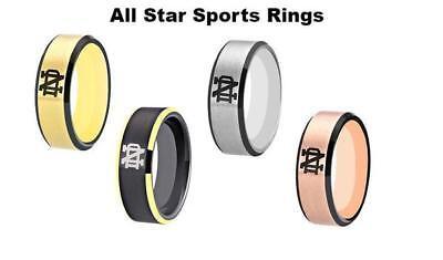 Cleveland Indians ring Titanium sport team logo 4colors 8mm US size 6-13