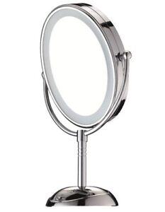 NEW Conair Reflections LED Lighted Mirror CBE51LEDA Grey