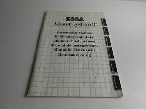 Sega Master System II / 2 Bedienungsanleitung / Instruction Manual