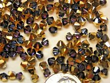 1,440 PIECES SWAROVSKI BEADS #5328 4MM BICONE - CRYSTAL AURUM
