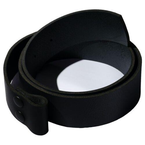 Wechselgürtel NABBI in schwarz Ledergürtel mit Druckknöpfen aus Rindleder Buckle