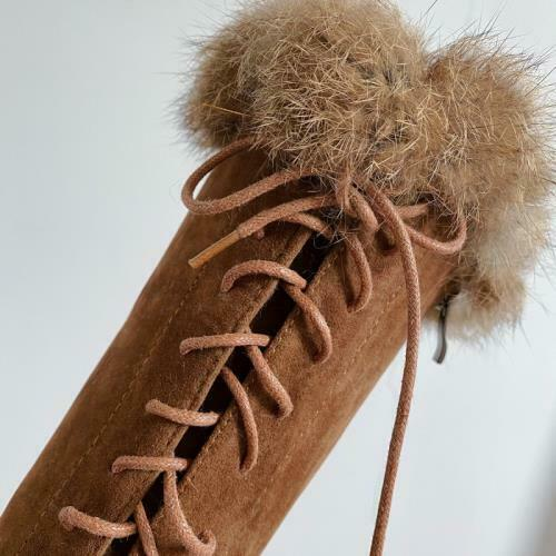 Details about  /Women Cowboy Block Heel Lace Ups Round Toe Knee High Knight Boots Comfort Punk D