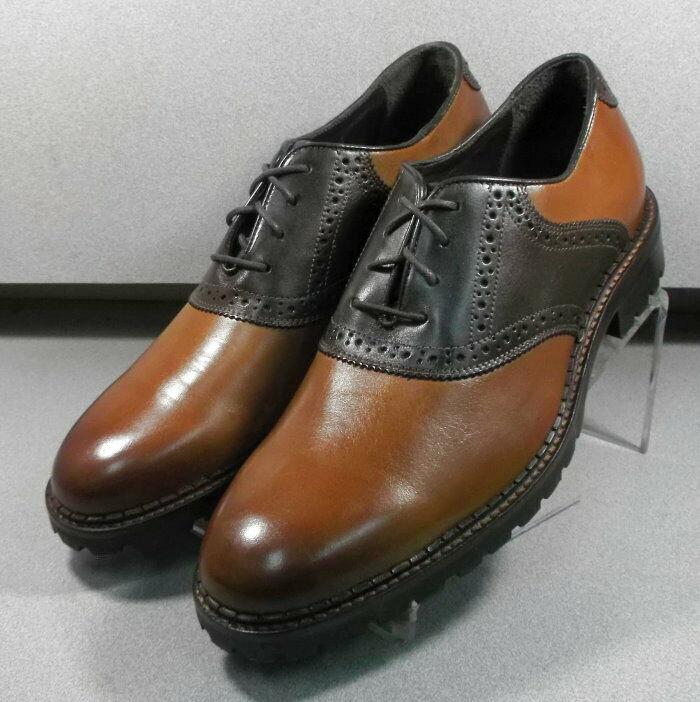 207874 ES50 Chaussures Hommes Taille 8 M Dark Tan en cuir à lacets Johnston & Murphy
