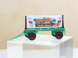 Vk-Modelle-08700617-Agriculture-Carriage-with-Sign-Spargel-1-87-New-Boxed