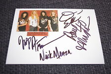 Megadeth Dave Mustaine Nick Menza signed AUTOGRAFI SU 13x18 cm foto inperson