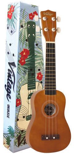Vintage Vuk 15n Naturales Soprano Ukulele Ukulele Ukulele   PTA equipados con Aquila Cuerdas  mejor precio