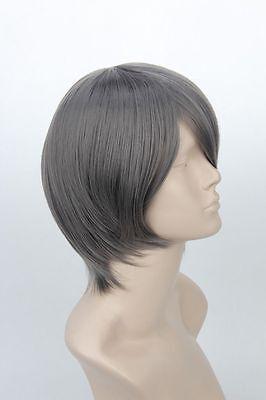 Black Butler Ciel Phantomhive Short Gray Cosplay Wig+free wig cap
