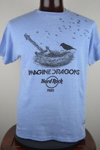 Imagine Dragons Mens L Blue Graphic T Shirt Bird Nest G