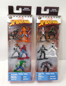 MARVEL-Nano-SPIDER-MAN-10er-Set-Metalfigs-Diecast-Venom-JADA-Neu-KB11