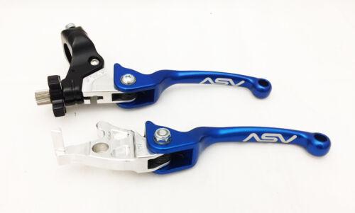 ASV Unbreakable F3 Blue Pair Pack Folding Clutch Brake Levers TRX300EX TRX400EX