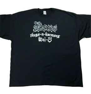 Bone-Thugs-N-Harmony-Double-Sided-Shirt-Sz-4XL-Black-White-Logo-Tee