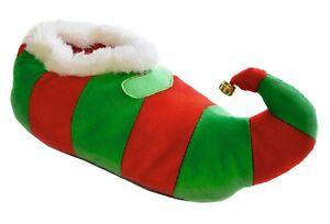 Adultos/Unisex/Hombre/Damas Novedad De Navidad Elf Zapatillas Con Campana
