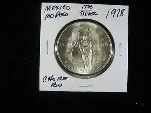 MEXICO 1978 100 PESO .720 SILVER CHOICE BU!!  5 COIN INVESTOR SPECIAL!!!