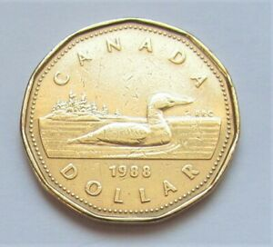 1988-CANADA-LOONIE-combined-shipping