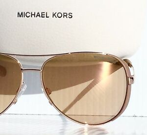 2c827bfc5ecb4 NEW  Michael Kors Rose Gold 59mm Aviator w RoseGold Lens Women s ...