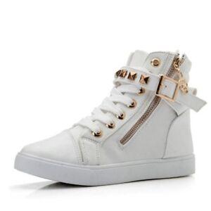 New Black Zapatos de Mujer Gold Rivets Shoes Fashion Women's flat platform shoes