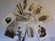 EARLY RPPC POSTCARD LOT OF 21 MEN GUYS MALES GENTLEMEN YOUNG & OLD! REAL PHOTO t