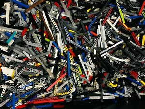 LEGO-1-100-POUNDS-TECHNIC-Studless-Beams-ONLY-Mix-bulk-lot-lbs-Parts-Pieces