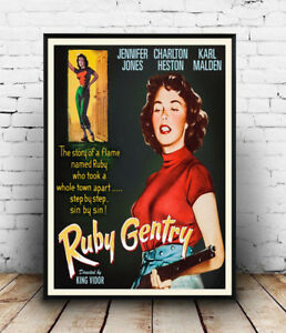Ruby-Gentry-Vintage-Film-advert-poster-Wall-art-poster-reproduction