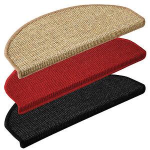 15x marchettes escalier sisal 3 coloris 2 tailles tapis d 39 escalier marches ebay. Black Bedroom Furniture Sets. Home Design Ideas