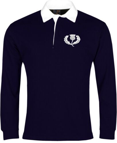 Scotland National Rugby Long Sleeve Shirt Sizes SXXXL Embroidered Logo