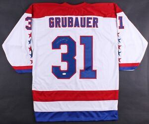 promo code 031e7 4ce5f Details about Philipp Grubauer Signed Capitals Jersey (JSA COA) 2018  Stanley Cup Champions