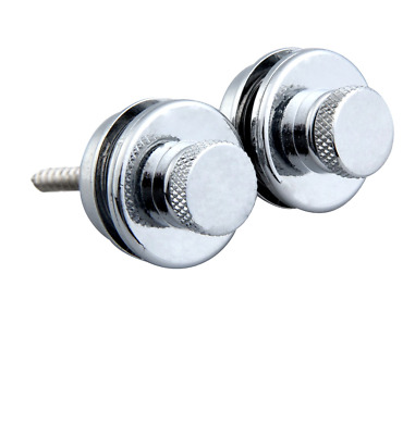 Strap Locks set of 2 for electric guitar bass acoustic QUICK RELEASE chrome