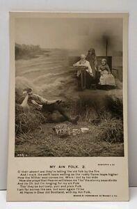 Bamforth-MY-AIN-FOLK-2-1907-Arlington-Iowa-to-Manchester-Postcard-F13