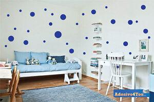 Decorare Pareti Cameretta Bambini : Adesivi pois per decorazione da parete camera bambini